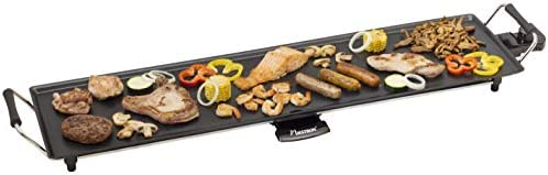 Bestron Elektrisk XXL plancha / teppanyaki grillplatta med non stick-beläggning, 1800 W, svart