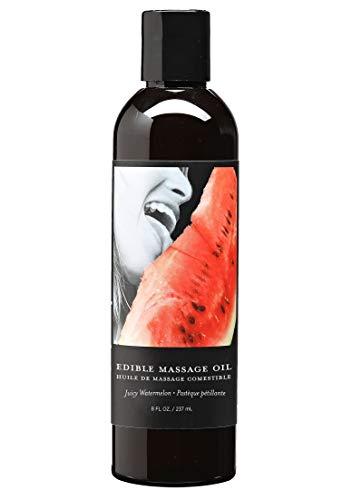 Earthly Body Edible Massage Oil 8-Ounce, Watermelon