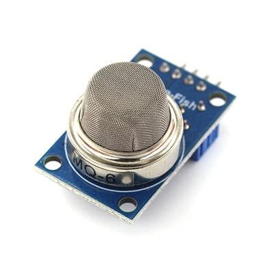 KEKEYANG MQ-2 MQ-3 MQ-4 MQ-5 MQ-6 MQ-7 MQ-8 MQ-9 MQ-135 Detection Smoke methane liquefied Gas Sensor Module FOR Starter DIY Kit Controller Board (Color : MQ 6)