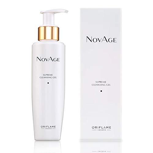 Oriflame NovAge Gel nettoyant suprême.Formule parfaite pour renforcer le pouvoir d'absorption de la peau et des traitements hydratants.Élimine en douceur les impuretés et les résidus de maquillage.