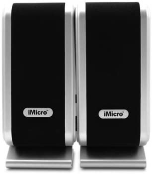 (Pack of 1) iMicro IMD168B 3.5mm Input USB Powered 2.0 Channel Multimedia Speaker System (Black)