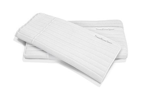TransHorse Sport Bandagierunterlagen Memory Schaum extrem stoßabsorbierend Größe S-L in 5 Farben (L (45x55 cm), Snow Flake)