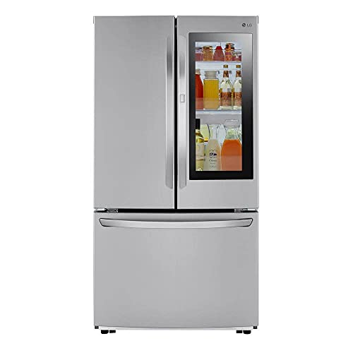 23 cu. ft. French Door Refrigerator with InstaView Door-in-Door in PrintProof Stainless Steel, Counter Depth