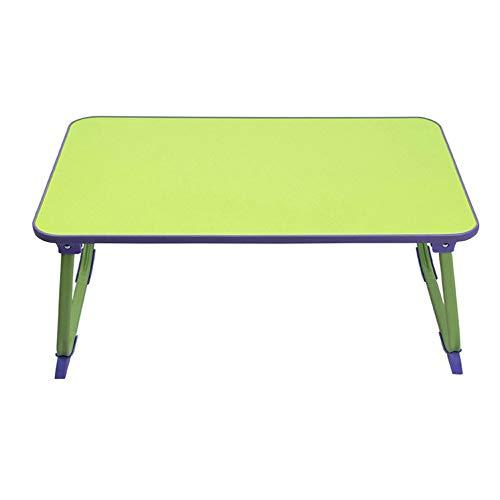Blingstars 100% beweegbare laptop-bureau, tafelstandaard, klapontbijt met koffiehouder voor bed, sofa, koffiekopje, boeken en snacks, roze blingsterren groen