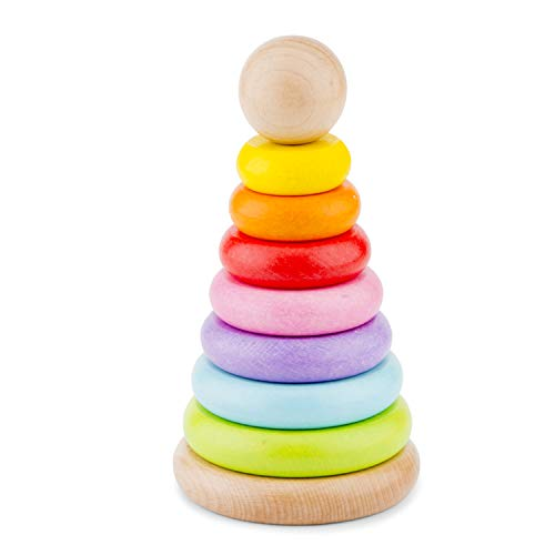 New Classic Toys Rainbow Stacking Toy, 10501, Multicolore Color