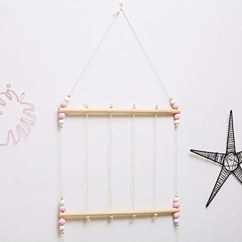 Versier LKU Fotolijst baby collage kinderen kinderen slaapkamer decoratie kerst muur hangende slinger, roze B