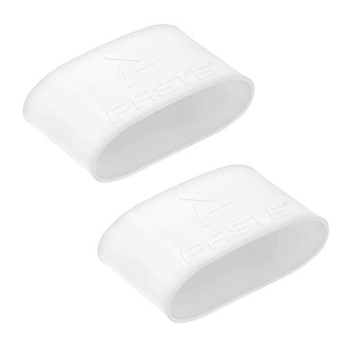 PASTE ® Schienbeinschonerhalter Fußball Herren Aus Silikon (Farbe: Weiß) Halterung von Schienbeinschonern im Stutzen (Schienbeinschoner Halter Ohne Verschluss)
