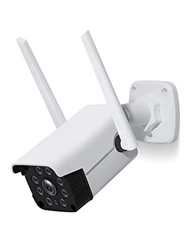 NETVUE Camara Vigilancia WiFi Exterior 1080P , Cámara IP Exterior IP66 a Prueba de Agua y Polvo Camara de Vigilancia Exterior Detección de Movimiento&Visión Nocturna&Compatible con Alexa