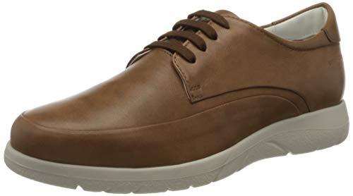 Stonefly Space Man 25 Nappa, Zapatos de Cordones Derby para Hombre, Marrone Tobacco 302, 47 EU