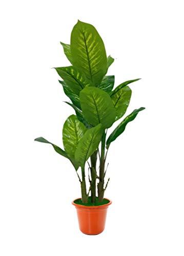 SZ Planta Árbol de Plátano, Banano con Maceta de Plástico Decoración Hogar, Salón, Planta Artificial