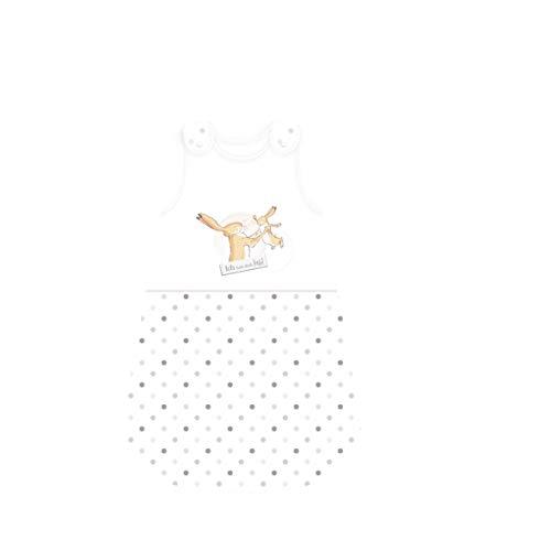 Herding Weißt du eigentlich wie lieb… Baby-Schlafsack, 110 cm, Seitlich umlaufender Reißverschluss und Druckknöpfe, Weiß