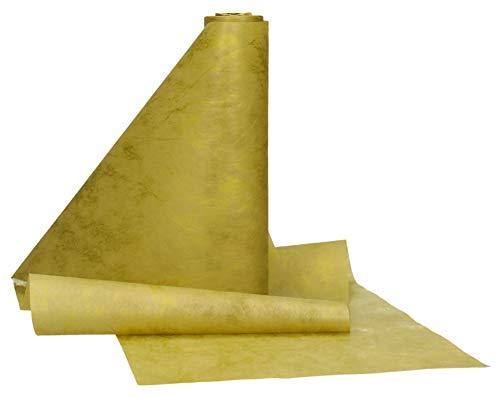 AmaCasa Runner da tavola Oro in Tessuto Non Tessuto Tovaglia Runner da Tavolo per Feste, Natale e Capodanno 23cm / 25m (Oro)