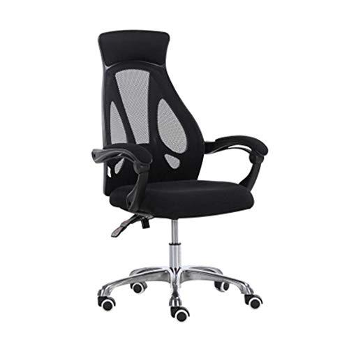 QLIGAH Bürostuhl, Schwarz Atmungsaktiver Stuhl Komfortable, Leicht Zu Reinigender Stuhl Studentenstuhl Personalstuhl-Konferenzstuhl