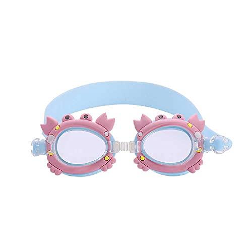 N\C Gafas de natación para niños, antiniebla, impermeables, antiUV, visión clara, gafas de natación, gafas de natación, gafas de natación para niños, niñas, niños y jóvenes (3-14) (azul y rosa