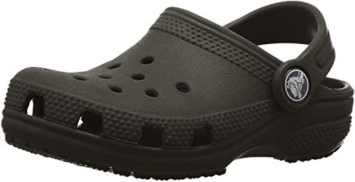 Crocs unisex child Classic Slip on Shoes for Boys and Girls Water Shoes Clog Black 1 Little product image