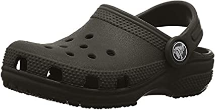 Crocs unisex child Classic | Slip on Shoes for Boys and Girls Water Shoes Clog, Black, 5 Big Kid US