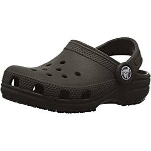 Crocs unisex child Classic | Slip on Shoes for Boys and Girls Water Shoes Clog, Black, 7 Toddler US
