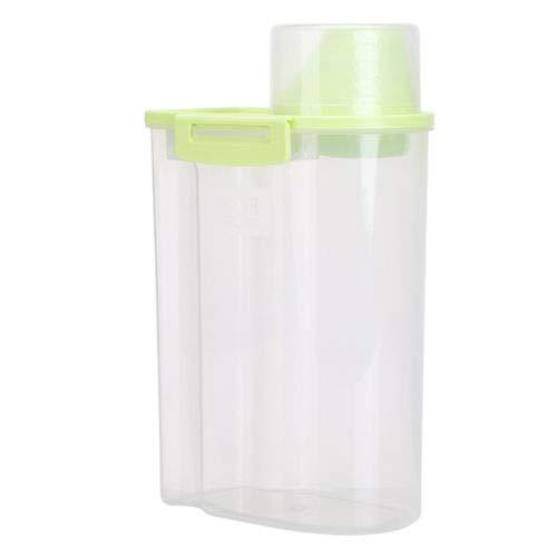 Momangel Grande boîte hermétique de 2,5 L pour céréales, Riz, céréales, Haricots et Aliments secs avec Couvercle hermétique Vert