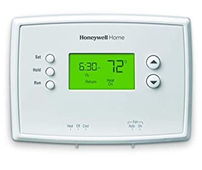 Honeywell Home RTH2410B1019 RTH2410B Programmable Thermostat, White (Renewed)