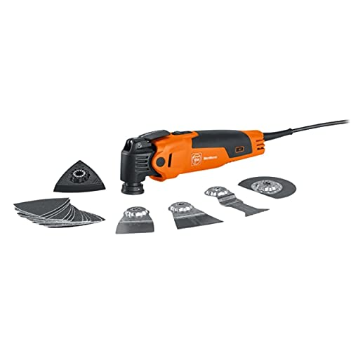 Fein FMM350QSL MultiMaster Corded Oscillating Multi-Tool with QuickStart and StarLockPlus for Snap-Fit Accessory Change - 350W - 72295267090