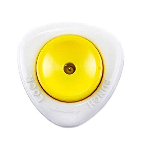cdzhouji Punzón De Huevo Huevo Ponche De Huevo Perforador De Huevos Perforadora Punzón Herramienta De La Cocina Semi-automático con Bloqueo De Seguridad Blanco Amarillo