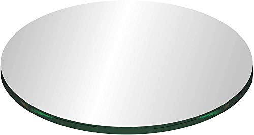 48' Round Clear Tempered Glass Table Top 1/4' Thick Flat Polished Edge