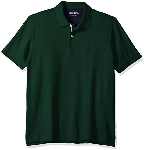 Nautica Men s Classic Fit Short Sleeve Solid Performance Deck Polo Shirt tidal Green 4XLT Tall product image