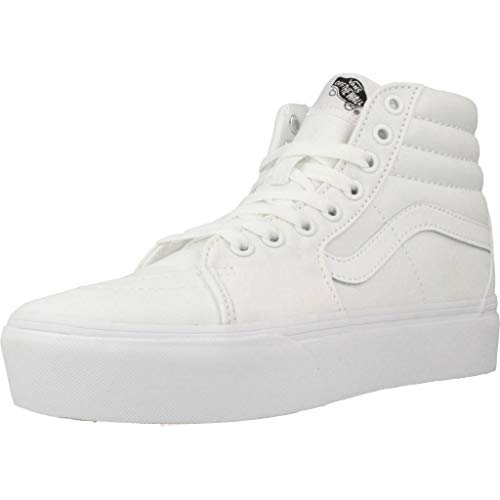 Vans Unisex SK8-Hi Platform 2 Canvas True White Trainer 36 EU
