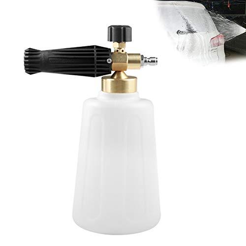 Hochdruckschneeschaum Lanze 1/4 Schnelle Verbindung für Seifenflasche Schäumer Autodruck Waschpistole Einstellbare Düse Sprayer