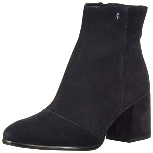 AX Armani Exchange Damen Suede Boot with Block Heel modischer Stiefel, navy, 35.5 EU