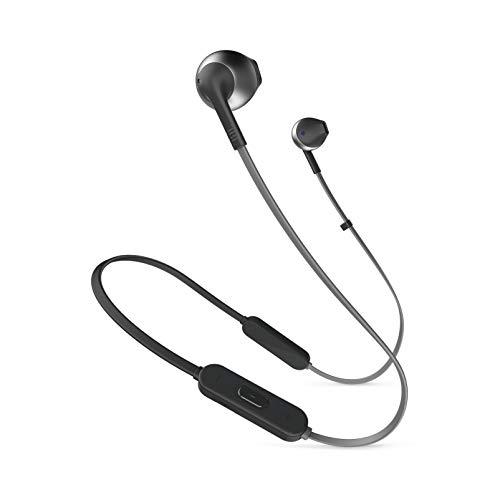 JBL T205BT in-Ear, Wireless Bluetooth Headphone, Black, One Size