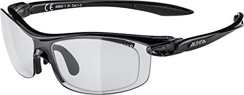 ALPINA PSO TWIST FOUR VL+ Sportbrille, Unisex– Erwachsene, black, one size