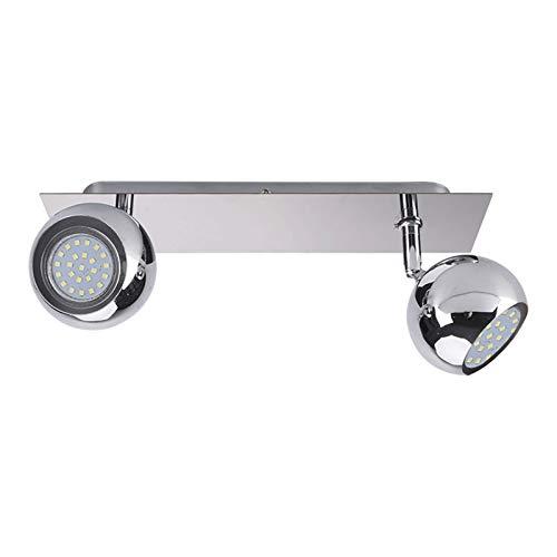 Foco esférico LED, accesorio de iluminación MR16, manchas redondas de 2 vías montadas en superficie, luz interior ajustable, lámpara de acento para dormitorio sala de estar