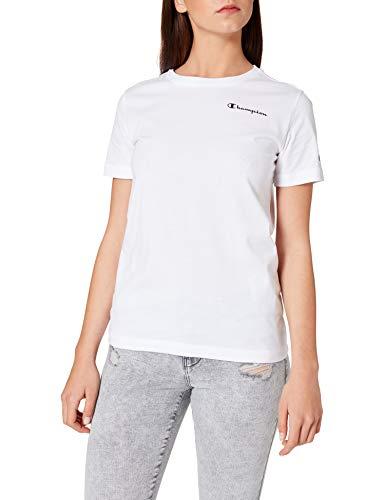 Champion Legacy Classic Small Logo Camiseta, Blanco, Blanca, XX-Large para Mujer