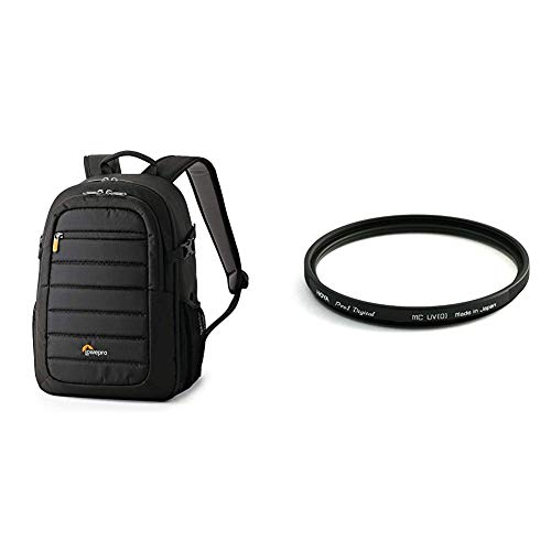 Lowepro LP36892-PWW Tahoe 150 Backpack for Camera, Stores DSLR with Lens Attached, CSC, Mirrorless, 10 Inch Tablet, Black & Hoya 58mm Pro-1 Digital UV Screw-in Filter