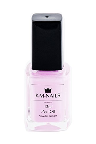 KM-Nails Peel off Liquide Tape - Pintauñas de látex líquido, bordes limpios, 12 ml, rosa