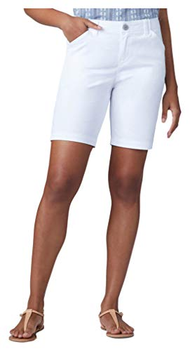 Lee Women's Regular Fit Chino Bermuda Short, White, 14