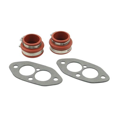 Dual Port Intake Installation Kit, Urethane, Red Boots, Compatible with Dune Buggy