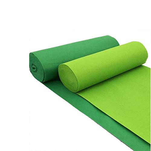 Groene loper met delicate print, voor banket, bruiloft, hal, bruiloft, tafelloper, accessoires voor binnen en buiten.