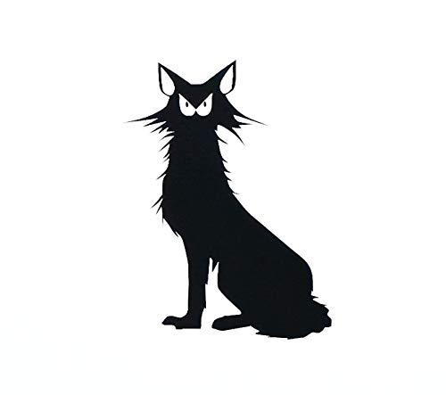 Cat Vinyl Decal Cat Silhouette Halloween Cat Decor Black Cat Sticker Cat Car Decal Cat Laptop Sticker Mug Decal