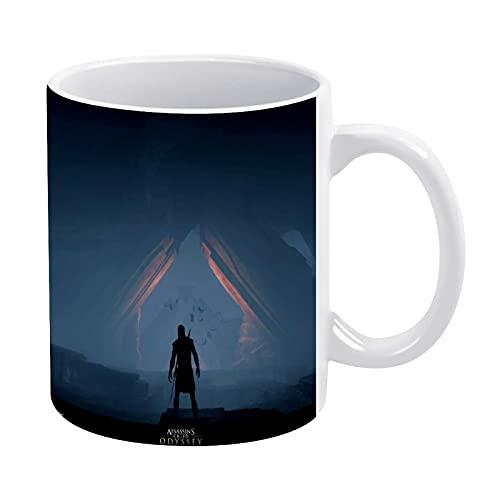 Assassins Creed - Tazas de café para mujer, cumpleaños, Navidad, Día de la Madre, regalos para mujeres, mamá, esposa, hermana, hija, amigas, 11 oz (blanco)