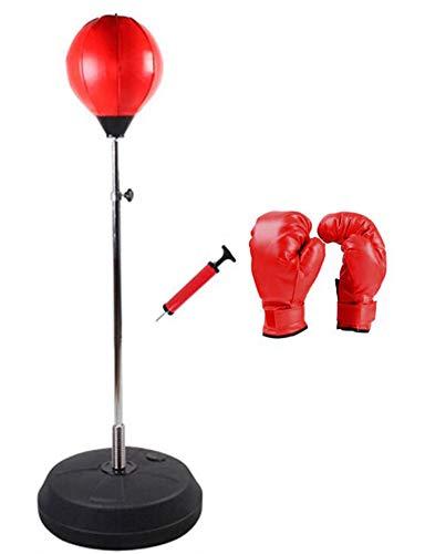 FEGER Vertikal Box-Set, Box Ball/Box Pol/Boxhandschuhe, Fitness Sportartikel,Adult