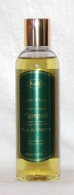 Huile de chanvre biologique 200 ml Huile de graines de chanvre – Huile pour cheveux – Skin Oil – Huile pour le corps – par P + 50 – sans parfum