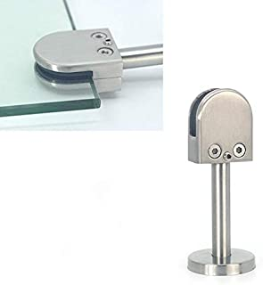 M Bathroom balcony glass fixing clip 304 Stainless Steel Glass Fish Mouth Support Rod Fixing Clip with 14x100mm Rod Specification