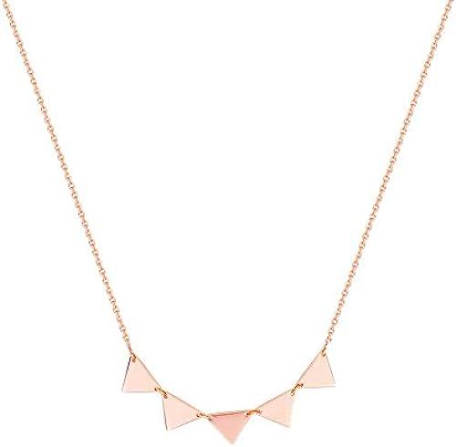 14  Rosa Gold Halskette Triangle Anschluss verstellbar (5 iangle 46cm