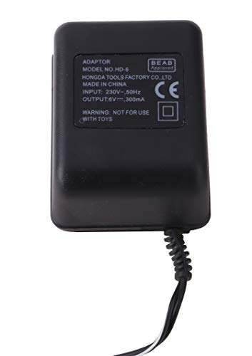 Christmas Concepts® Adaptador 6V 300ma con Cable de Alimentación Ajustado