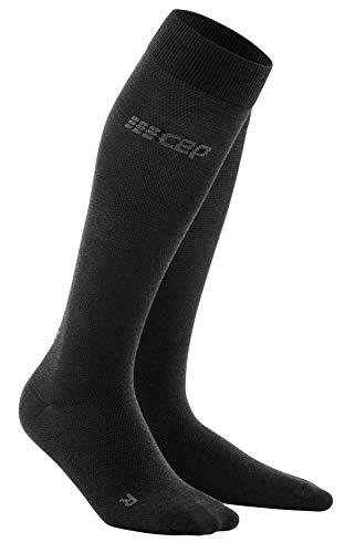CEP – ALLDAY RECOVERY COMPRESSION SOCKS für Herren   Merino Socken mit Kompression in anthrazit   Größe IV