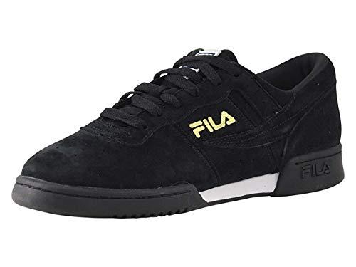 Fila Men's Original Fitness Lineker Fashion Sneaker, Black/White/Gold, 11.5 M US