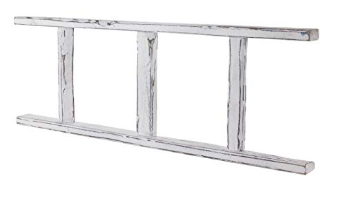 Kontorei 1x 3-puntige ladder wit in shabby look, hout, voor leuke DIY decoratie-ideeën binnen en buiten, boekenkast/garderobe, nieuw, 100 cm