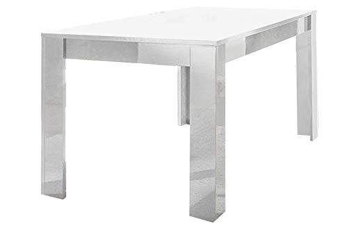 LIVNY LIGNEMIEBLES LACADO BLANCO MATE SEDOR COMEDOR Moderno: La mesa de comedor 180